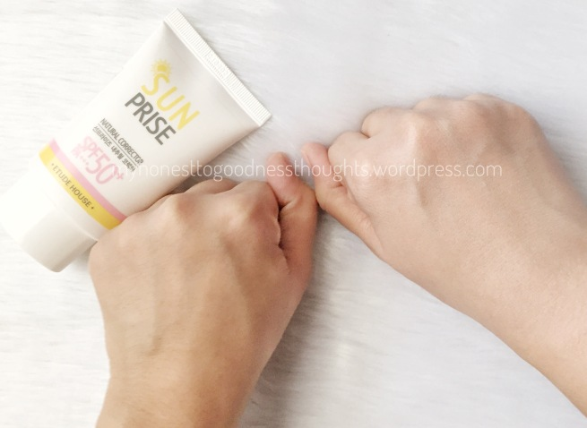 Review Etude House Sunprise Natural Corrector SPF 50+PA+++